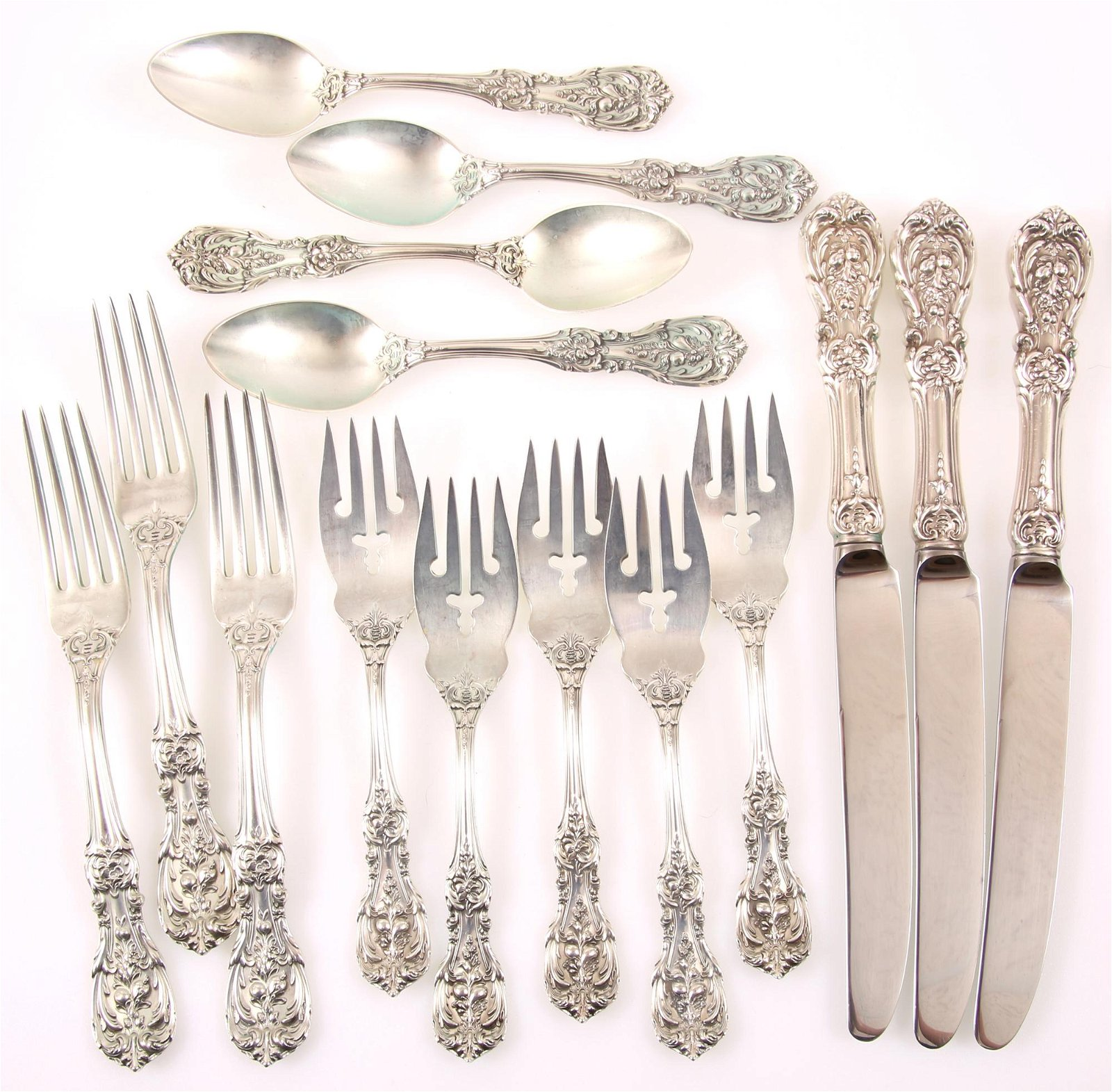 REED & BARTON STERLING SILVER FRANCIS I FLATWARE
