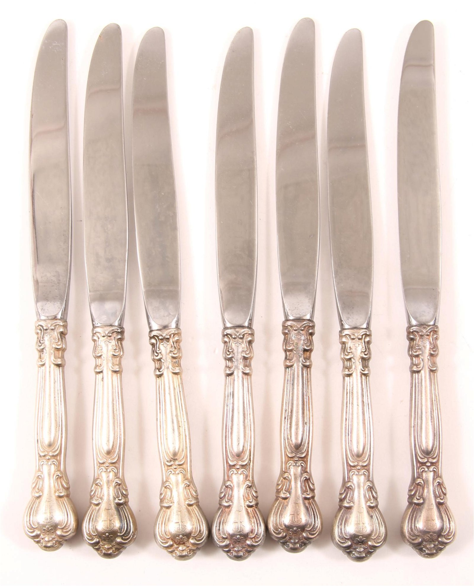 GORHAM STERLING SILVER CHANTILLY KNIVES - LOT OF 7