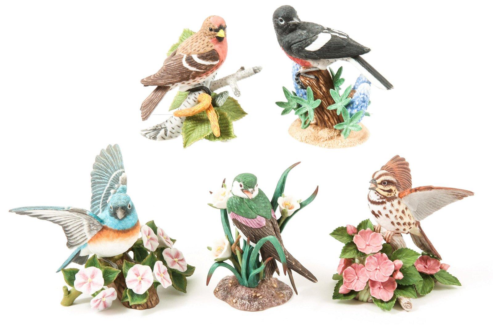 LENOX PORCELAIN BIRD FIGURINES - LOT OF 5