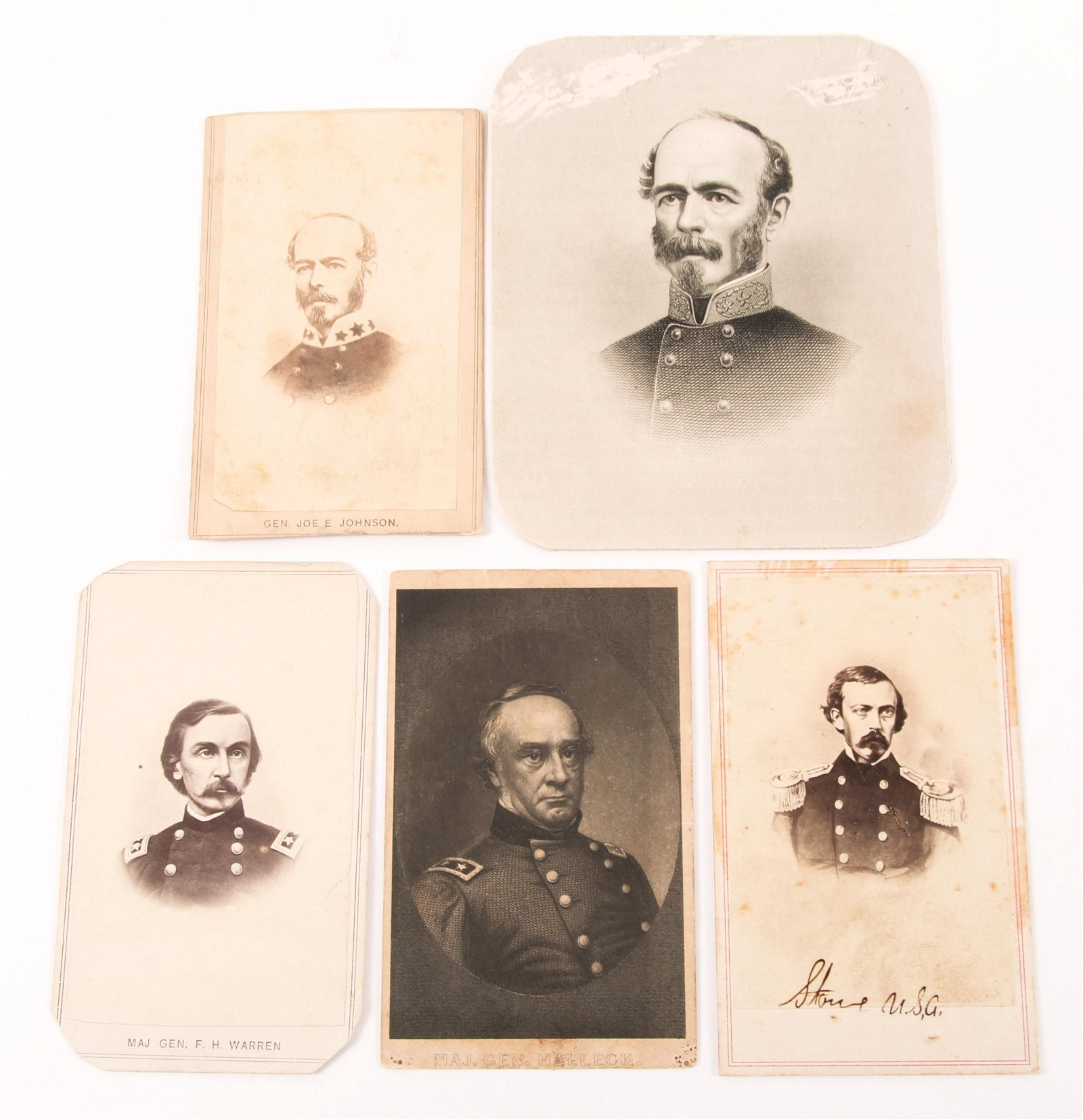 CIVIL WAR ERA CDV CABINET CARD GENERALS, OFFICER