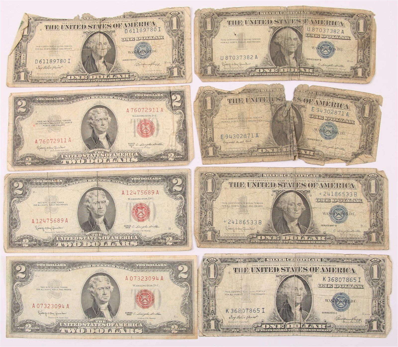 U.S. RED SEAL & SILVER CERTIFICATE CURRENCY LOT