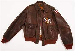 WWII A-2 LEATHER BOMBER JACKET W/FLYING TIGER PATCHES