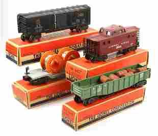 LIONEL TOY TRAIN SETS - GONDOLA CABOOSE CABLE BOX CAR