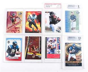 1990'S & 2000'S NFL TRADING CARD LOT OF 8