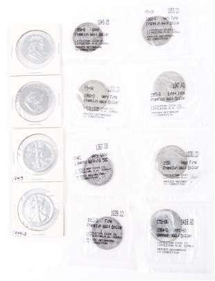 $6.00 FACE VALUE SILVER U.S. HALF DOLLARS - LOT OF 12