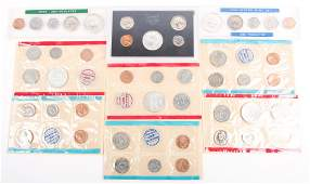 U.S. SILVER HALF MINT & PROOF COIN SETS - LOT OF 6