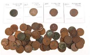 PENNIES - INDIAN HEAD CENTS, FLYING EAGLE - 1857 - 1909