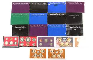 UNITED STATES PROOF COIN SETS - LOT OF 19