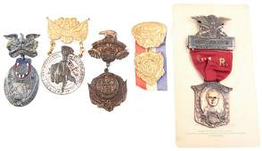 EARLY 20TH C. GRAND ARMY OF THE REPUBLIC (GAR) BADGES