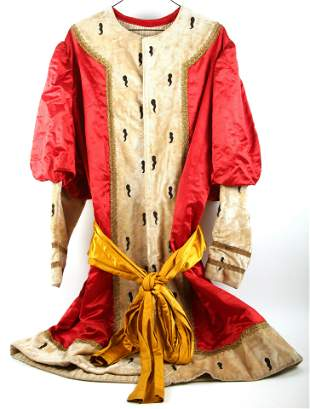 EARLY 20TH C. WARD STILSON CO. ELFIN KING MASONIC ROBE
