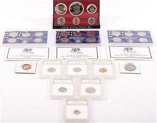 MODERN PROOF COIN COLLECTION - SLABBED & SETS