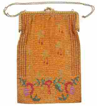 OVERSIZE FRENCH STEEL BEADED PURSE
