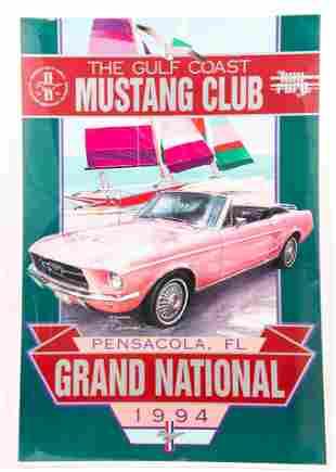 GULF COAST MUSTANG CLUB GRAND NATIONAL 1994 POSTER