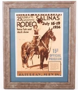 1936 SALINAS RODEO PROGRAM COVER