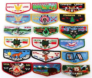 LATE 20TH C. BOY SCOUTS ORDER OF THE ARROW PATCHES