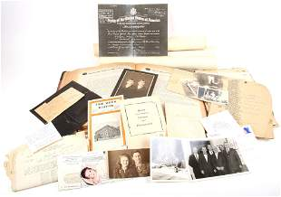 WWI SOLDIER'S ARCHIVE LOT OF 1ST LT. WALLACE PATTISON