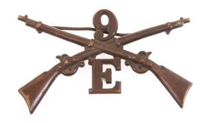WWI 9th INF REGT COMPANY E OFFICER COLLAR PIN INSIGNIA