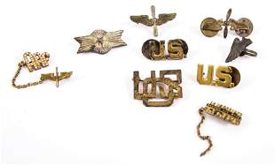 U.S. AIR FORCE STERLING SERVICE & SWEETHEART PINS