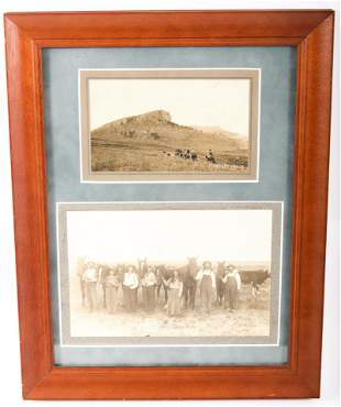 FRAMED COWGIRL CABINET CARDS