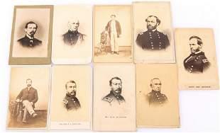 CIVIL WAR CDVs, GEN. SHERMAN, SHERIDAN, SEN BAKER
