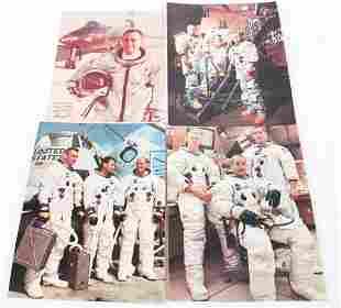 EARLY NASA PHOTOS & WILLIAM J KNIGHT AUTOGRAPH LOT
