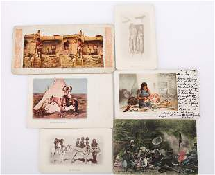 NATIVE AMERICAN LITHOS, POST CARDS, FLATCARD