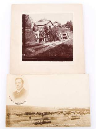 OREGON RANCHER POST CARD AND CABINET CARD