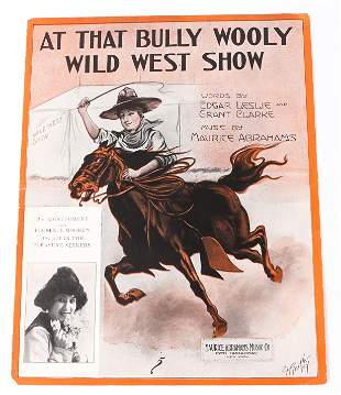 AT THE BULLY WOOLY WILD WEST SHOW 1913 SHEET MUSIC