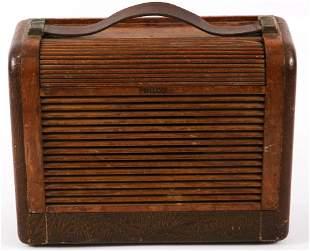 EARLY TO MID 20TH CENTURY PHILCO PORTABLE RADIO