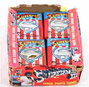 1983 TOPPS SUPERMAN III PHOTO CARDS BUBBLE GUM PACKS