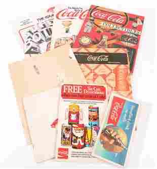 COCA-COLA PAPER EPHEMERA - AD, COLLECTOR GUIDES & MORE