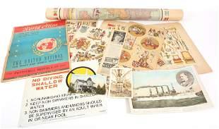 PAPER EPHEMERA - LITHOGRAPHS, MAPS, POSTCARDS & MORE