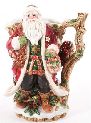 FITZ AND FLOYD CHRISTMAS LODGE SANTA PITCHER