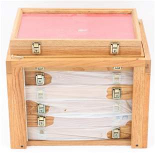 WOODEN DISPLAY CASE LOT OF 7