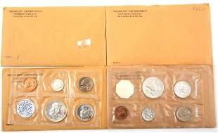 1960-1962 U.S. SILVER MINT PROOF SETS - LOT OF 6