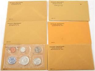 1963-1964 U.S. SILVER MINT PROOF SETS - LOT OF 6