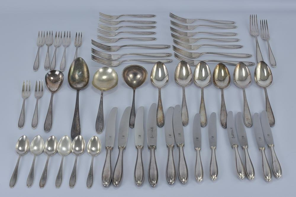 Collection of WMF Silver Plate Cutlery stamped 90