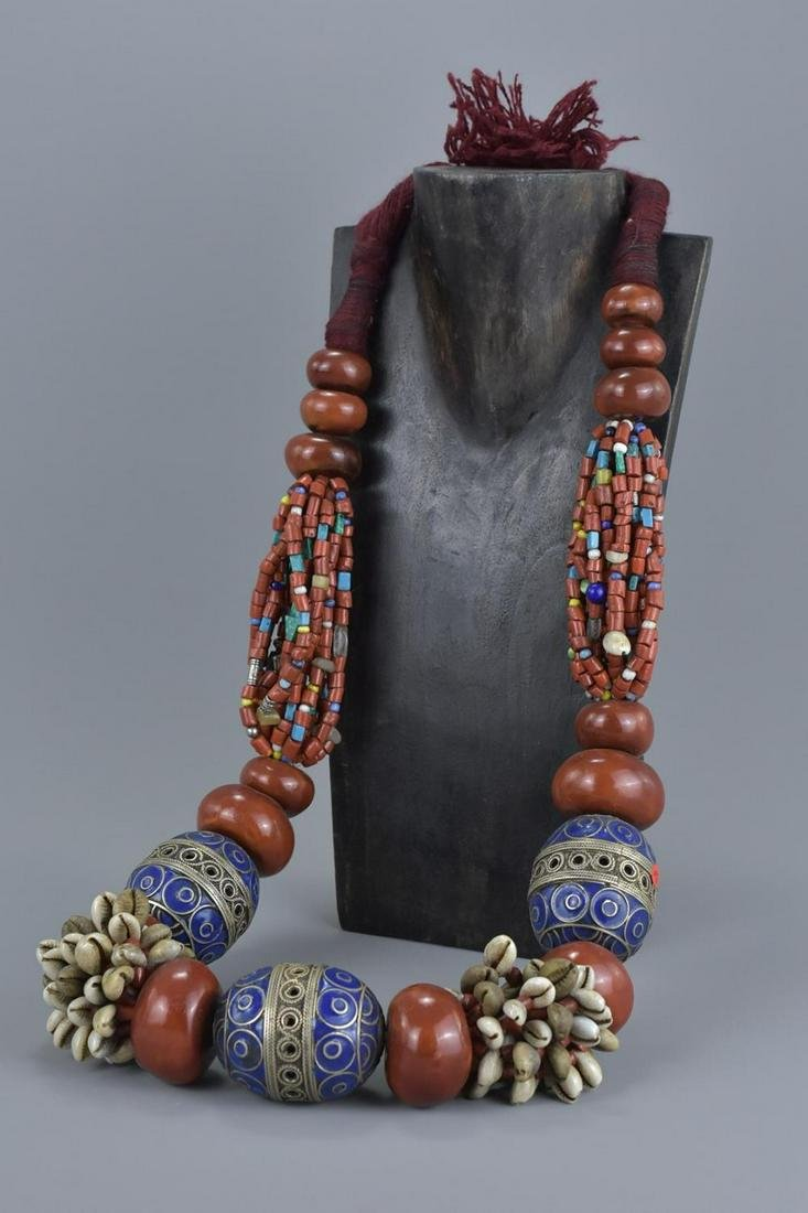 Large Moroccan bead necklace
