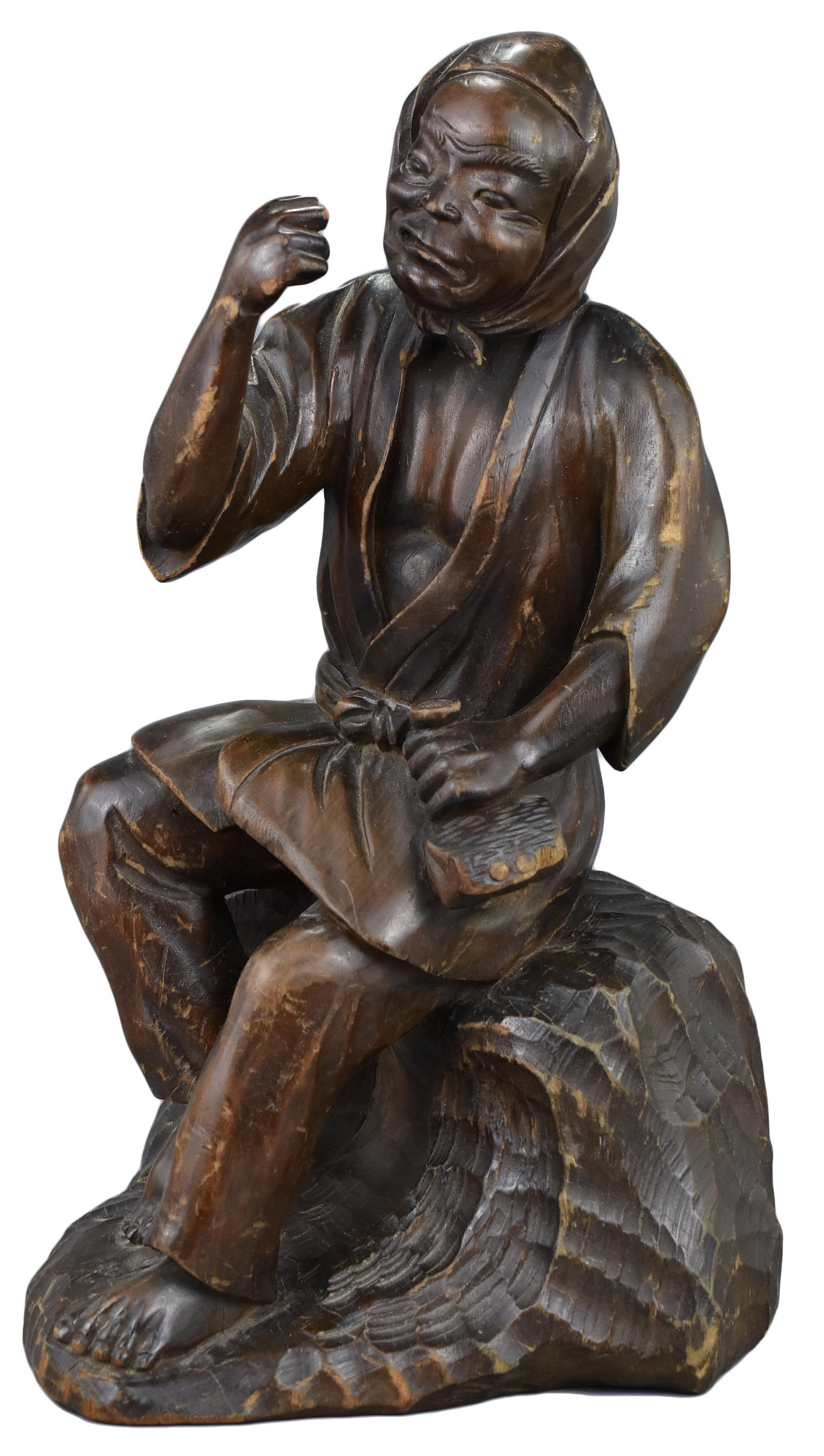 A Japanese Carved Wooden Figure, 19th Century.