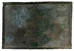 A Rare Chinese Han Dynasty Glazed Pottery Tray with