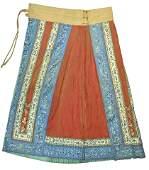A Chinese 19th C. Qing Dynasty Wedding Skirt
