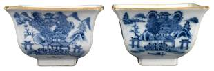 PAIR OF CHINESE BLUE AND WHITE PORCELAIN BOWLS,