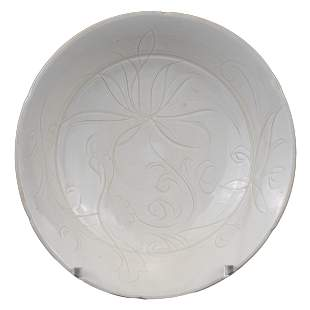 CHINESE DINGYAO PORCELAIN LOTUS DISH, NORTHERN SONG