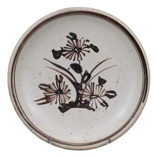 CHINESE CIZHOU-TYPE PAINTED POTTERY DISH, MING DYNASTY,