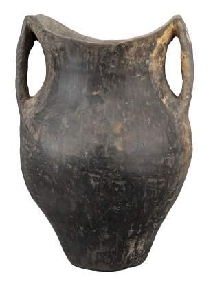 RARE CHINESE NEOLITHIC BLACK POTTERY JAR – SIWA