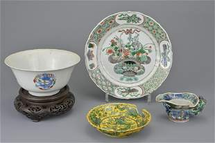 GROUP OF CHINESE PORCELAIN ITEMS, 18th CENTURY AND
