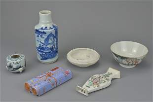 GROUP OF SIX CHINESE PORCELAIN ITEMS