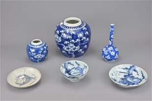 A collection of chinese blue and white