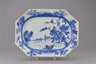 An 18th century chinese blue and white porcelain