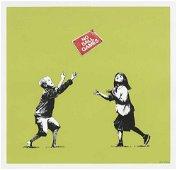 Banksy (British ) (B.1974). NO BALL GAMES (GREEN)